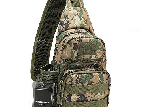 b461141209ab Nornou Sling Bag Small Shoulder Backpack Crossbody Multipurpose Daypack for  Running Cycling Army