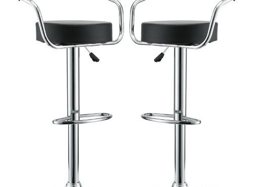 Modway Diner Retro Faux Leather Adjustable Bar Stools In
