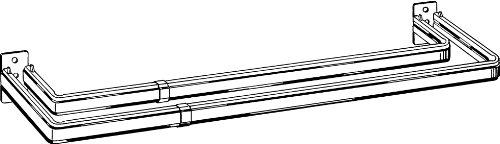Bali Blinds Double Curtain Rod 28 48 White Xodseb