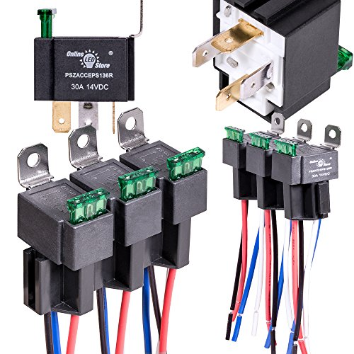 5 Pack 40  30 Amp Automotive Waterproof Relay Switch Set